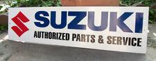 Suzuki Authorized Parts & Sevice Metal Sign Gsx Hayabusa Atv Motorcycle