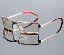 New Men Women Rectangular Frame Clear Lens Glasses Designer Fashion Wrap Around