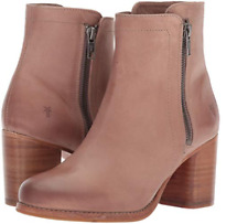 New in Box FRYE Womens Addie Double Zip Boots Dusty Rose SIZE 9 MSRP $358 76612