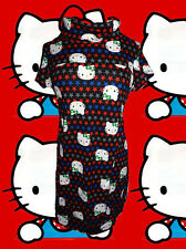 86✪ Vintage Kitty StrickKleid Tunika Longpullover Retro Sterne Hello 80er Jahre