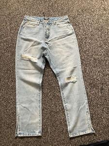 Brand New Missguided Split hem Ripped MOM jeans size 16 Regular
