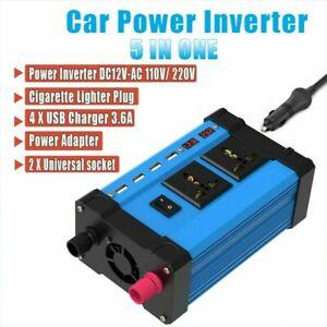 4000W Car Power Inverter DC12V to AC110V/220V Modified Sine Wave Converter 4 USB