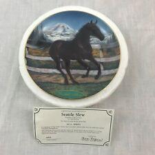 "Danbury Mint ""Seattle Slew"" Horse Plate 1996 Susie Morton Champion Thoroughbreds"