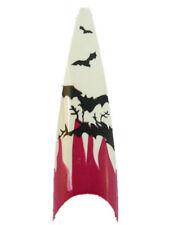 120 Airbrush Stiletto Nail Tips Halloween Tips Weiß Pink Fledermaus KP-1261 #7