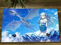 NEW Yu-Gi-Oh! Girl Playmat Blue-eyes White Dragon TCG CCG Trading Card Game Mat