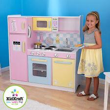 KidKraft Large Kids Wooden Pastel  Kitchen Pretend Play Fridge Cooking 53181