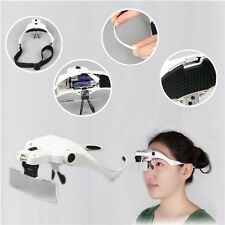 1.0X 1.5X 2.0X 2.5X 3.5X Magnifier Loupe Magnifying Glasses With 2 LED Lights La