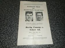 More details for chesterfield : derby county  v  select xi. gillingham  mansfield + others 1964/5
