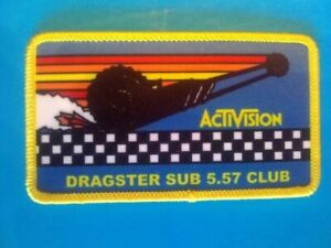 Dragster Activision Patch-Atari Video Game Patch-Funny Reproduction