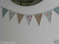 1m BUNTING FLAGS PARTY CATH KIDSTON PROVENCE ROSE DUCK EGG TAUPE CLARKE DOTTY