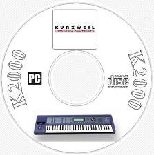 Kurzweil K2000 Sound / Patch Library, Manual, MIDI Software & Editors CD  K 2000