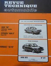 Neuve de stock ! Revue technique RENAULT 20 TS RTA N° 377 1978 AUDI 80 AMI 8