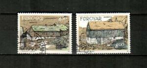 FAROE ISLANDS Scott's 245-46 ( 2v ) Traditional Houses F/VF Used ( 1992 )