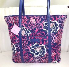 VERA BRADLEY LARGE TRIMMED VERA KATALINA PINK FAUX LEATHER STRAPS - NEW WITH TAG