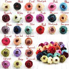 "100Pcs 2""Silk Artificial Rose Flower Head Party Wedding Garland Decoration Craft"