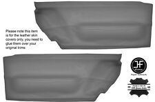 GREY LEATHER 2X FRONT DOOR CARD TRIM  COVERS FITS VW BEETLE 1998-2010