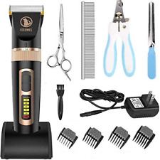 Dog Pet Grooming Clipper Kit Professional Thick Hair Complete Set Heavy Duty New