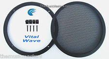 "1X 8"" inch Sub Woofer ""Clipless"" Fine Mesh GRILL Speaker Protective Cover VWLTW"
