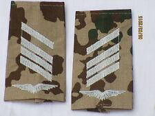 Bw-Rangschlaufen: Stabsgefreiter, Luftwaffe , weiß/tropentarn