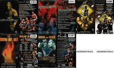 Lot of 5 Wrestling Classic VHS Video Tapes From 2002 WWE WWF