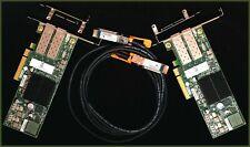 2 carte réseau 10gb/s Chelsio 10Gigabit NIC 10GBe + 1x 3m SFP+ Cisco cable