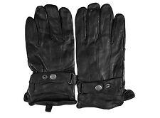 Van Heusen Women Black Fashion Gloves 100% Genuine Leather With Fleece Large