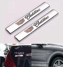 2Pcs Cadillac Car Trunk Body Fender Metal Emblem Side Badge Decal Sticker