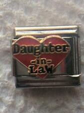 """""""LOVE MY DAUGHTER-IN-LAW IN RED HEART""""  9MM ITALIAN  CHARM-  HUSBAND, SPOUSE"""