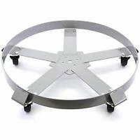 Sturdy Drum Mover for 55gal Barrels w/ 1250lb Capacity & Smooth Rolling Casters