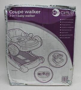 MYCHILD Coupe Baby Walker/Rocker w/Car Steering Wheel & Horn Pink 6 Months NEW
