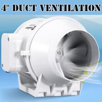 """4"""" Inline Duct Fan Hydroponic Ventilation Blower Grow Extractor/ Bathroom Fan"""