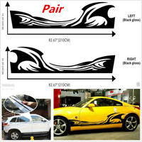 PAIR CAR SUV CARAVAN BOAT VEHICLE GRAPHICS DECAL STICKER FLAMES SPRAY STYLE