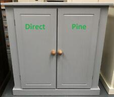 AYLESBURY 2 DOOR SIDEBOARD CUPBOARD WITH 2 SHELVES GREY/ANTIQUE PINE KNOBS