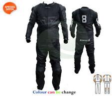 Blousons noirs en cuir de vache pour motocyclette taille XS