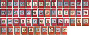 Mouseloft Christmas Greeting Cards Xmas Fun Counted Cross Stitch Kits New