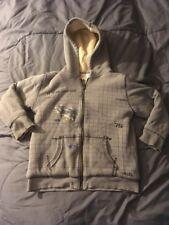 Boy's POWER RANGERS Gray Zip-Up Hoodie Size M Medium 7/8 Sweatshirt Jacket NICE