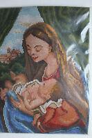 "Stickpackung/ Wandbild ""Maria mit Kind"" Gr. ca.30 x 40 cm NEU OVP schön"