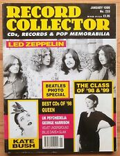 RECORD COLLECTOR JAN 1999 #233 LED ZEPPELIN KATE BUSH UK PSYCHEDELIA VELVET UNDE