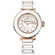 Swarovski 39mm Octea Sport Rose Gold & White Watch 1124153 NEW! $850 price tag!!