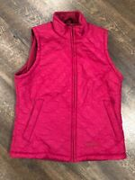 Womens Berne Nylon Vest Fleece Lined Vest Size Small S Pink Quilted Full Zip