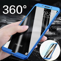 360° Full Cover Case + Tempered Glass For Huawei P9 P10 P20 Lite Mate 10 Pro