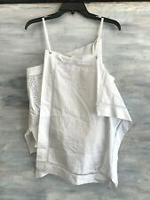 NEW! 3.1 PHILLIP LIM Handkerchief Tank Blouse Top, 6 - Optic White - $395