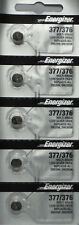 5 Pack Fresh ENERGIZER Silver Oxide WATCH Battery 1.55v CR376 CR377 CR 376 377