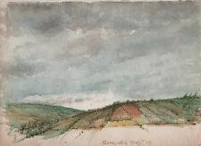 SENIGALLIA ITALY LANDSCAPE Watercolour Painting c1955 ITALIAN ART