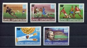 S5281) Centrafricaine Rep.1978 MNH World Cf - World Cup Football 5v Imperf