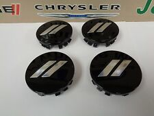 "11-17 Dodge Charger Challenger 20"" Wheel Center Cap Daytona T/A Gloss Black 4pcs"
