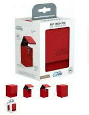 Ultimate Guard Leatherette Flip Deck Case Box 80+ Cards Red MTG CCG TCG Pokémon