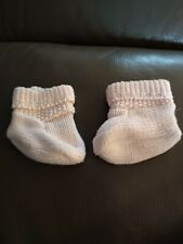 Girls Baby 3-6 Months Pink Knit Style Booties - Baby Gap