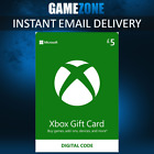 Microsoft Xbox Live £5 GBP UK Gift Card Points Pounds For Xbox 360   Xbox One