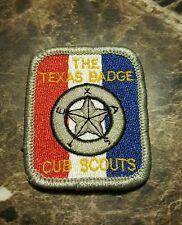 CUB SCOUT Boy Scout Patch Vintage THE TEXAS BADGE BSA OA